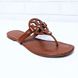 Tory Burch Miller Medallion Leather Flat Thong 8